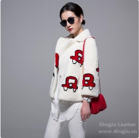 欧美品牌 2015冬 珍珠羔伟德betvictor手机毛betvictor1946手机真皮皮草女款外套图片