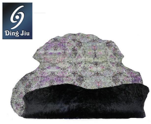 黑色毛被彩色皮板欧美风格整张澳洲进口优质覆膜伟德betvictor手机毛betvictor1946手机图片03