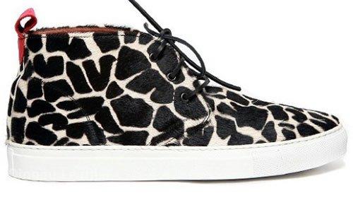 黑白图案马毛皮---鞋