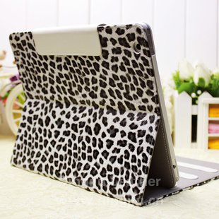 黑白豹纹马毛皮ipad23平板电脑保护套(壳)